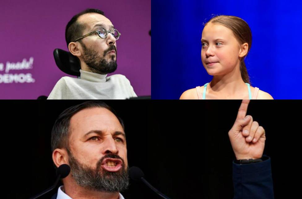 Echenique, Colau e Irene Montero alaban a Greta Thunberg y Vox la define de forma contundente