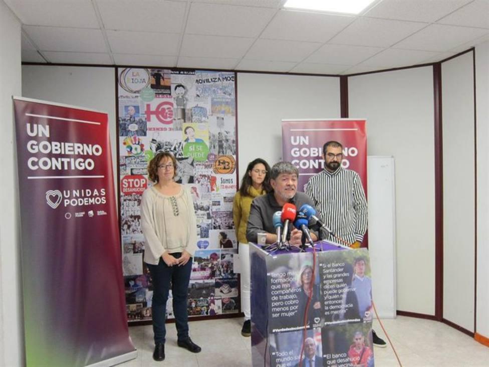 Illoro cree que se ha demostrado que el suelo electoral de Unidas Podemos en La Rioja es estable
