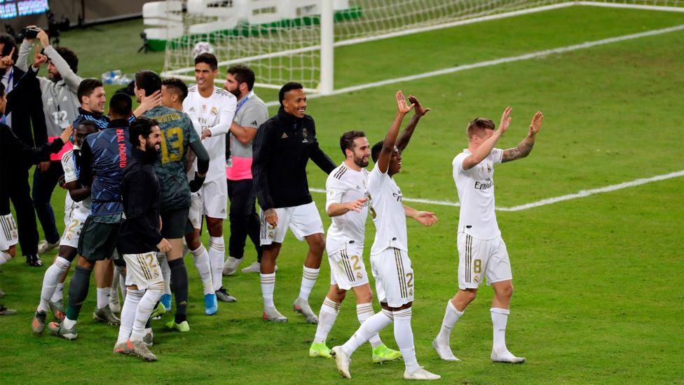 El Real Madrid, campeón de la Supercopa de España. EFE
