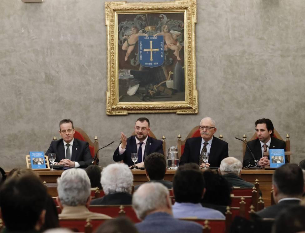 Marcelino Marcos, Adrián Barbón, Ramón Rodríguez y Roberto Fernández Llera