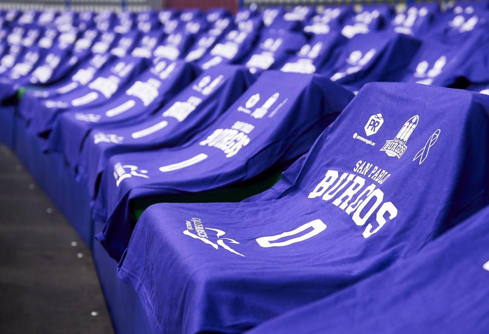 Camisetas moradas - San Pablo Burgos