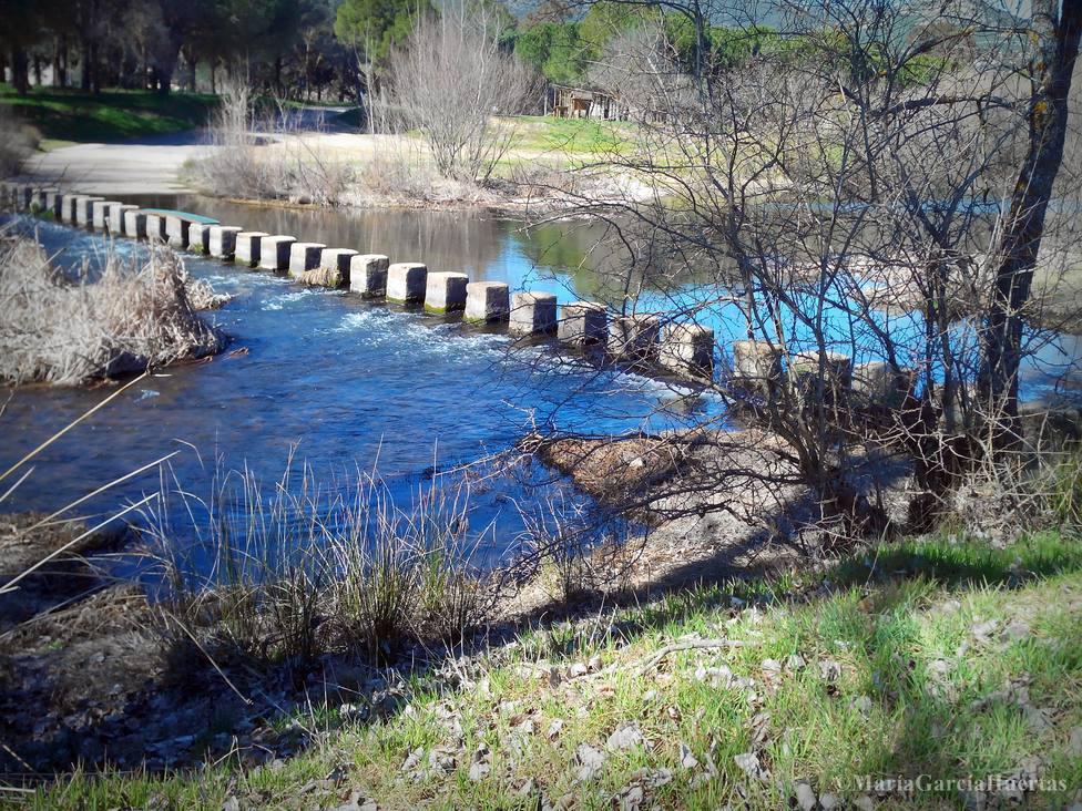 Rio Guadiana a su paso por Luciana