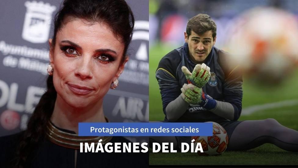 Imágenes del día: Iker Casillas cuelga las botas y Maribel Verdú comienza proyecto con abrigo puesto
