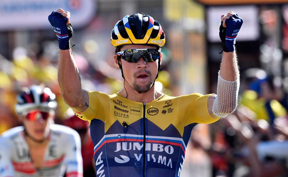 Roglic, ganador de la 4ª etapa (EFE)