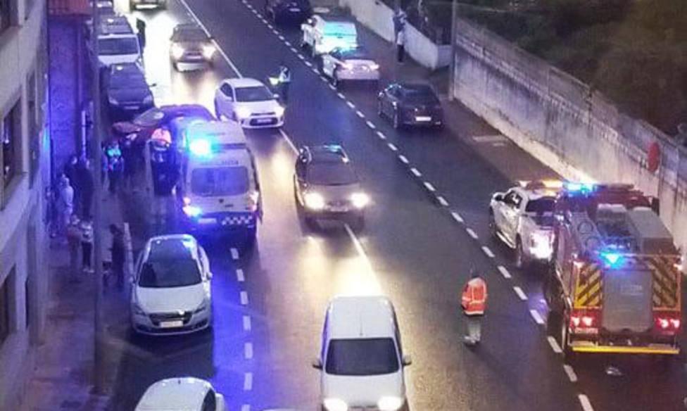 La colision motivó retenciones puntuales en la zona - FOTO: Tráfico Ferrolterra