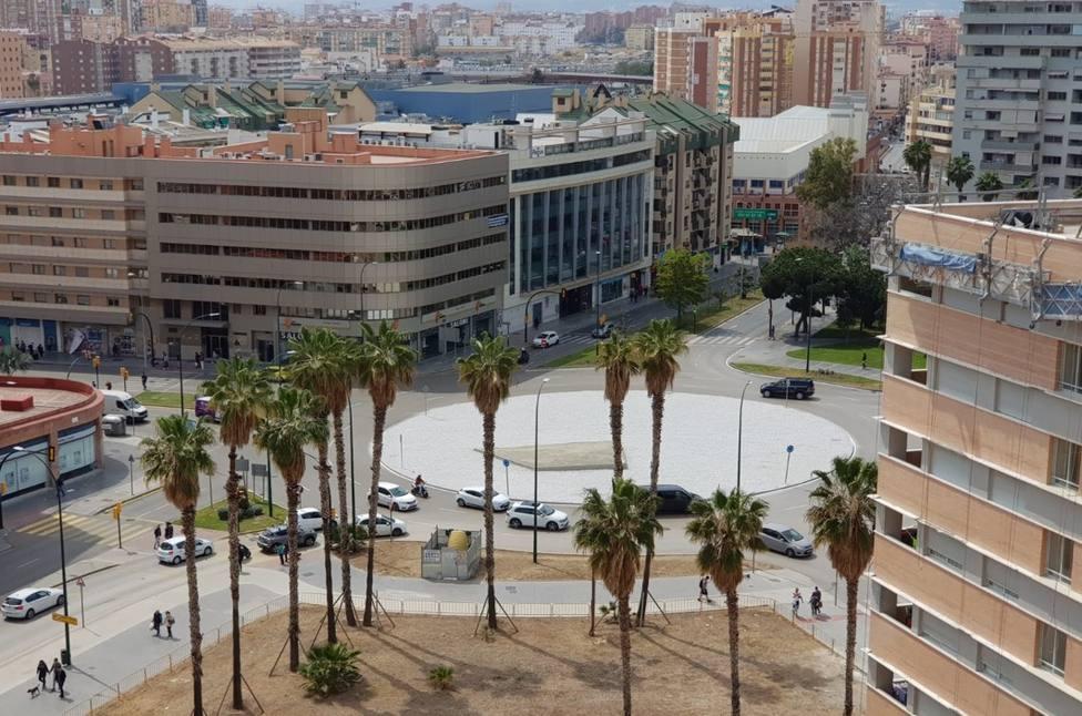 Imagen de la Plaza de la Solidaridad en Málaga capital.