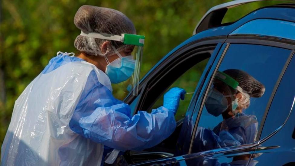 Test PCR en un Autocovid de Asturias