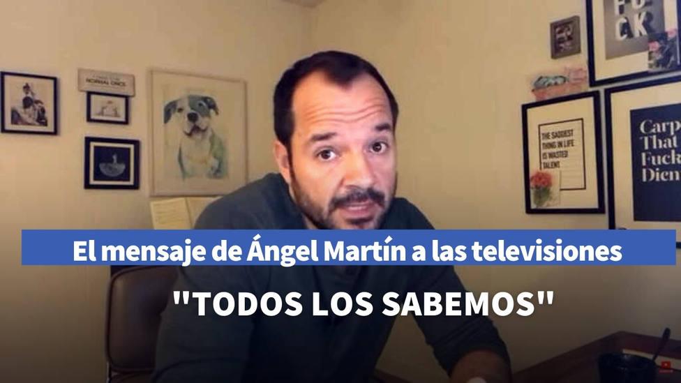 Ángel Martín no da crédito a las imágenes de los informativos y manda un duro mensaje a las televisiones