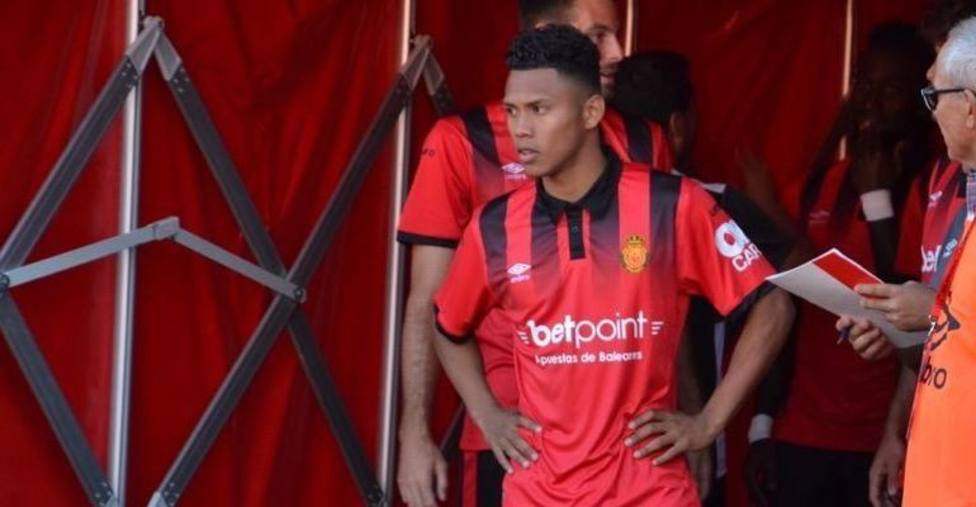 Bryan Reyna, en un partido con el Mallorca
