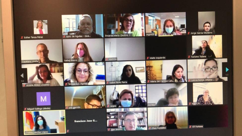 Águilas participa en una vídeo reunión de Destinos SICTED