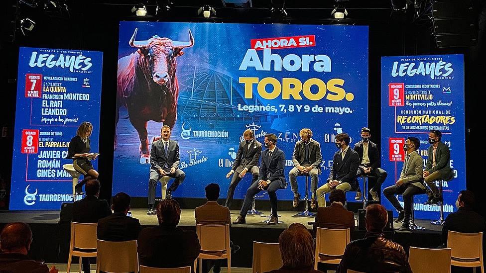 Acto de presentación de la feria taurina de Leganés (Madrid)