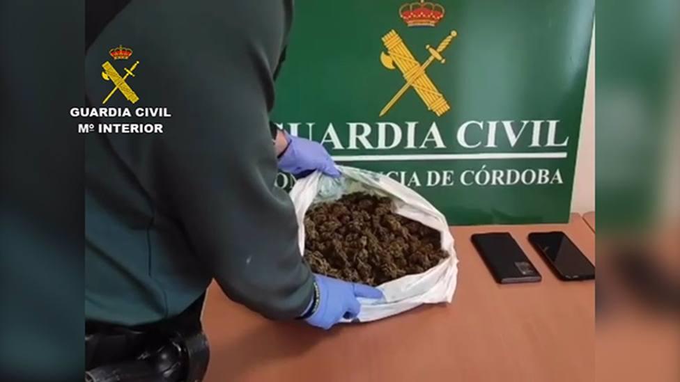 Detenidos en Montilla dos acusados de tráfico de drogas tras viajar con 530 gramos de marihuana