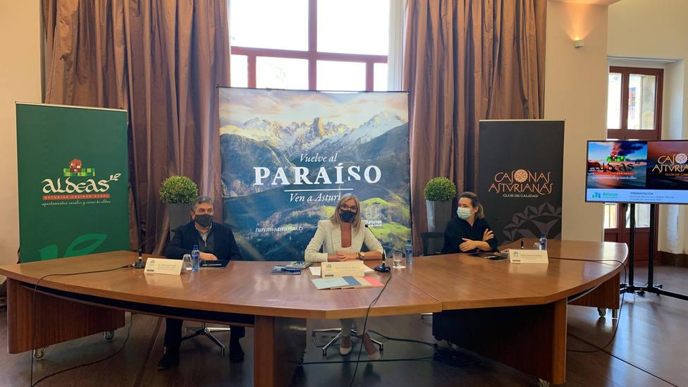 La viceconsejera de Turismo del Principado de Asturias, Graciela Blanco, en el acto de presentación