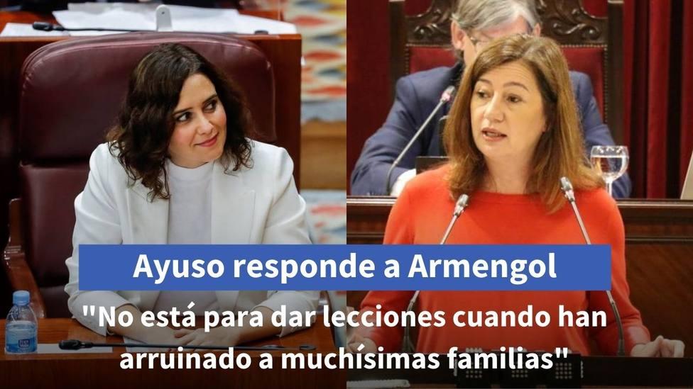 Isabel Díaz Ayuso (PP) y Francina Armengol (PSOE)
