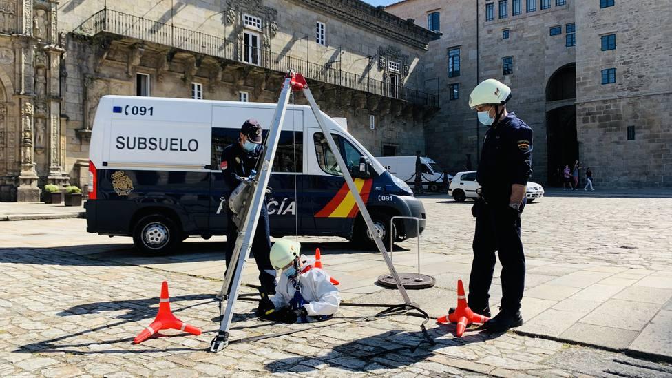 Patrullas de la Policía Nacional, también por el subsuelo de Santiago