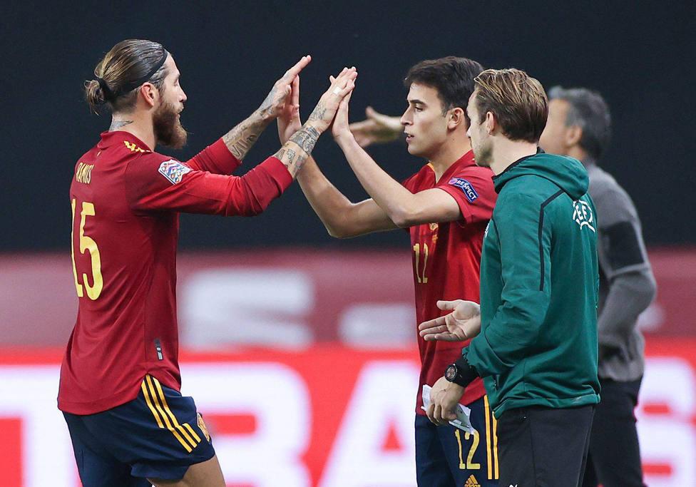 Sergio Ramos y Eric García