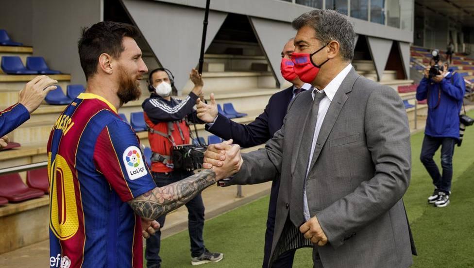 Laporta, sobre la renovación de Messi: Todo va bien