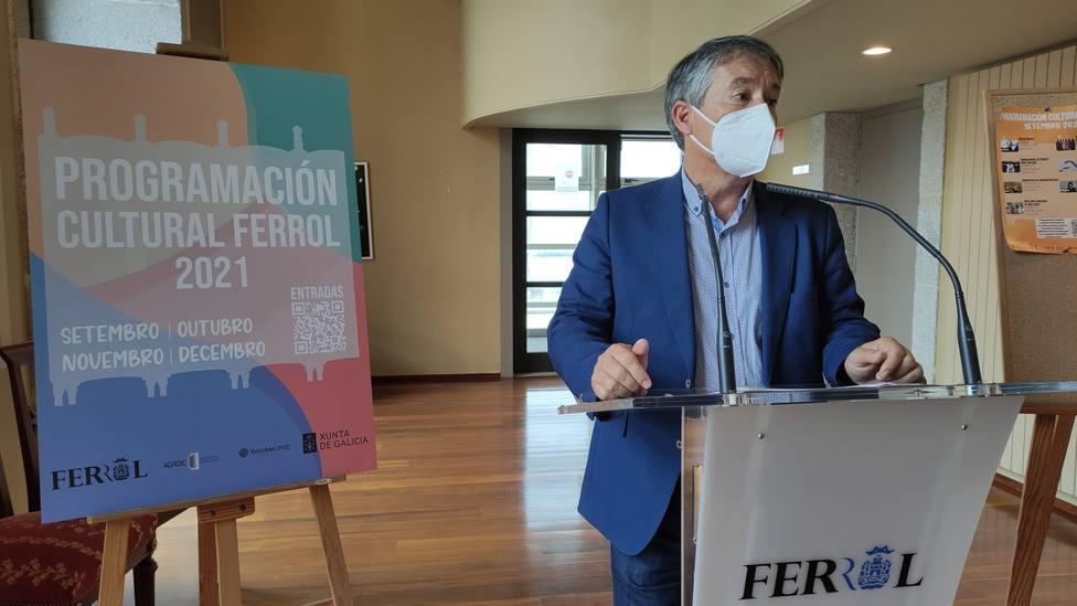 Antonio Golpe, es concejal de cultura de Ferrol. FOTO: concello de Ferrol