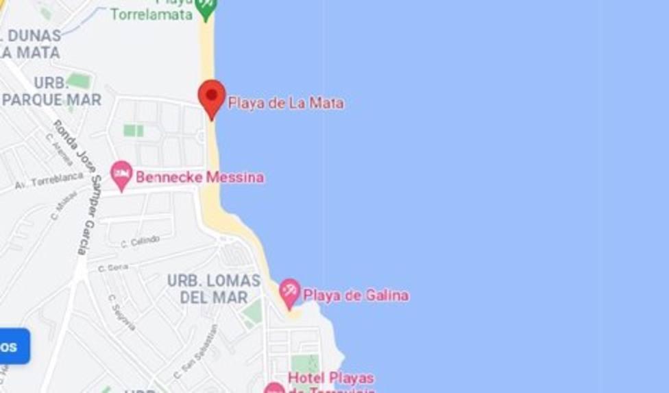 Playa de La Mata, en Torrevieja