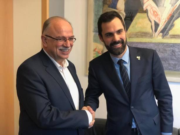 Torrent se reúne en Bruselas con un vicepresidente del Parlamento Europeo