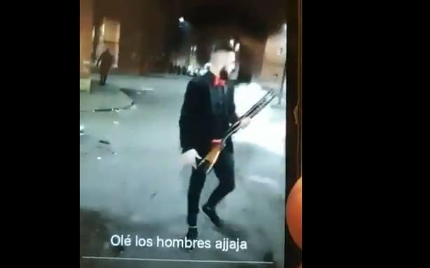 Celebración de fin de año a tiros y en presencia de menores en un barrio de Valladolid