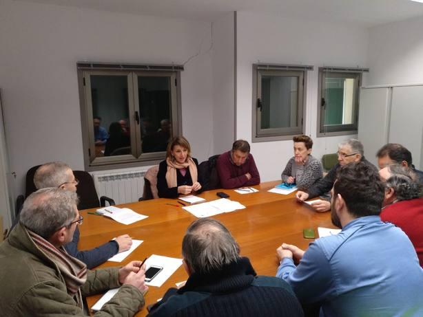 Reunión mantenida por la diputada de En Marea, Yolanda Díaz, con integrantes del comité de empresa de Endesa