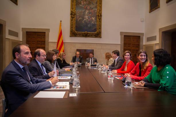 Torra reúne este martes por segunda vez la mesa de diálogo de partidos catalanes