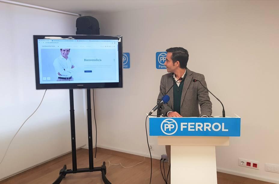 José Manuel Rey Varela, durante la presentación de su nueva página web