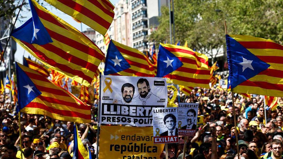 Este sábado en Madrid manifestación contra el juicio del procés. Imagen de archivo