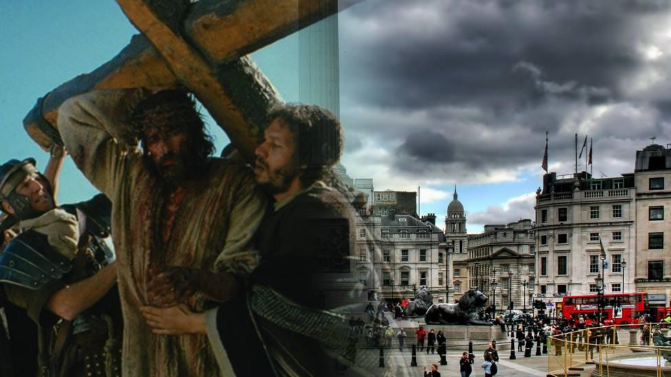 Una mujer convertida, transforma Londres en Jerusalén por Semana Santa