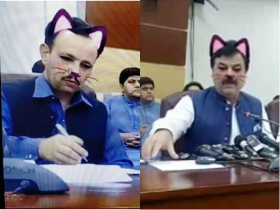 Lo nunca visto: un error con el filtro de Facebook convierte a políticos de Pakistán en gatos