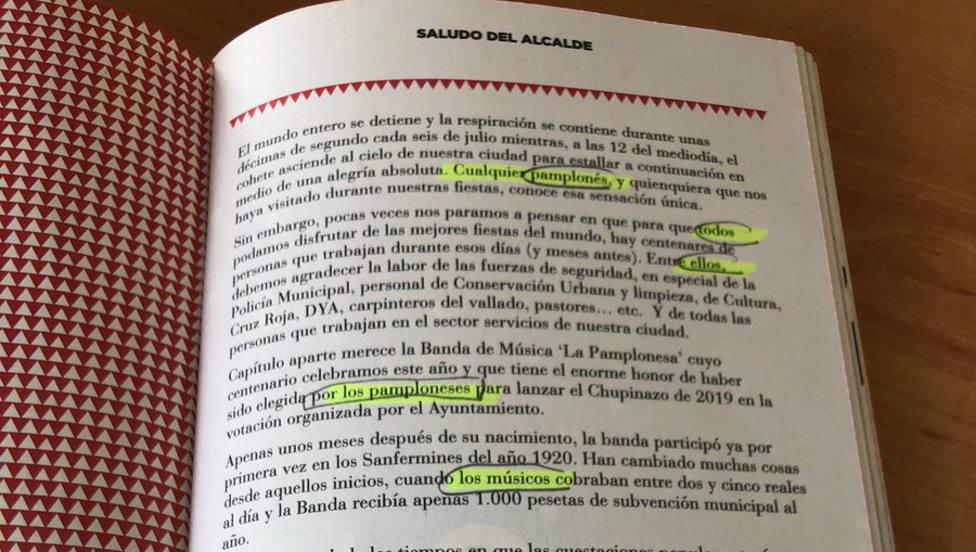 El alcalde de Pamplona decide no usar lenguaje inclusivo en San Fermín y le llueven las críticas nacionalistas