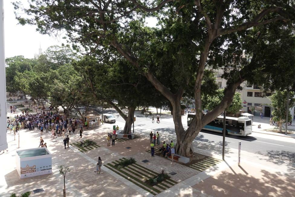 Entran en servicio las nuevas paradas de la EMT en la Alameda Principal de Málaga