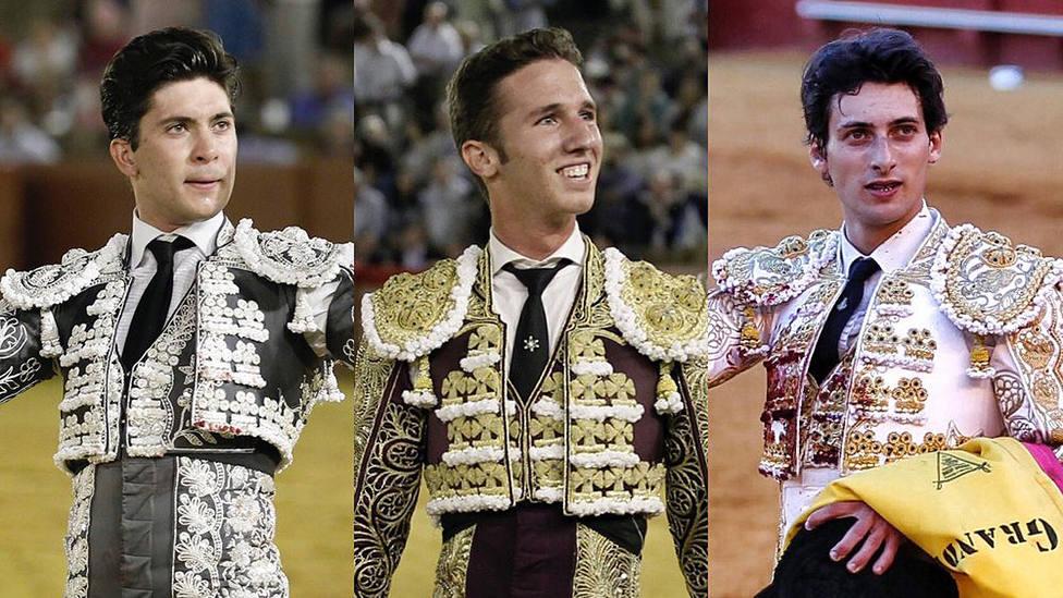 Rafael González, Calerito y Antonio Grande torearán la novillada del 27 de septiembre en Sevilla