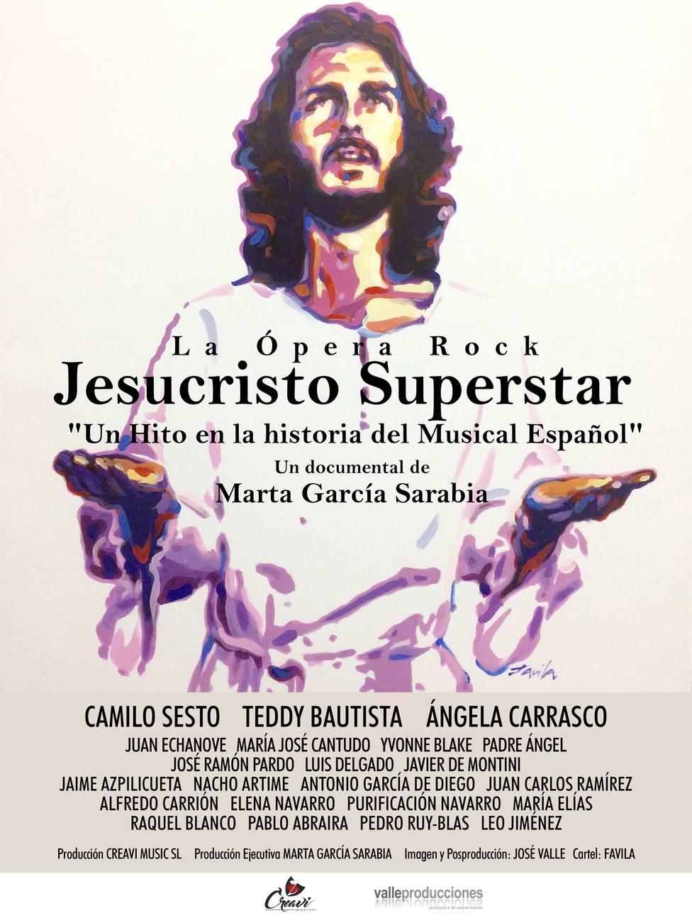 Cines de 5 provincias recordarán a Camilo Sesto con el reestreno del documental sobre el musical Jesucristo Superstar