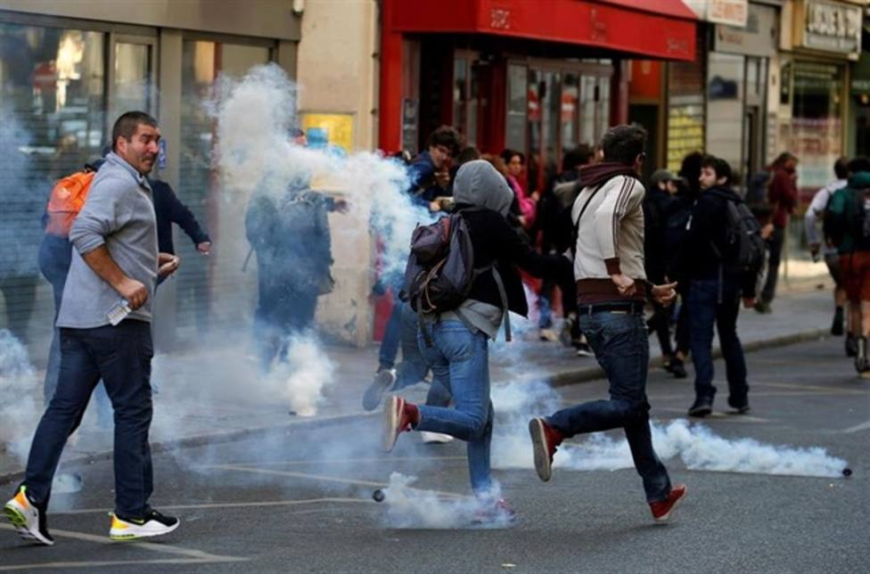 Manifestación de los chalecos amarillos en París