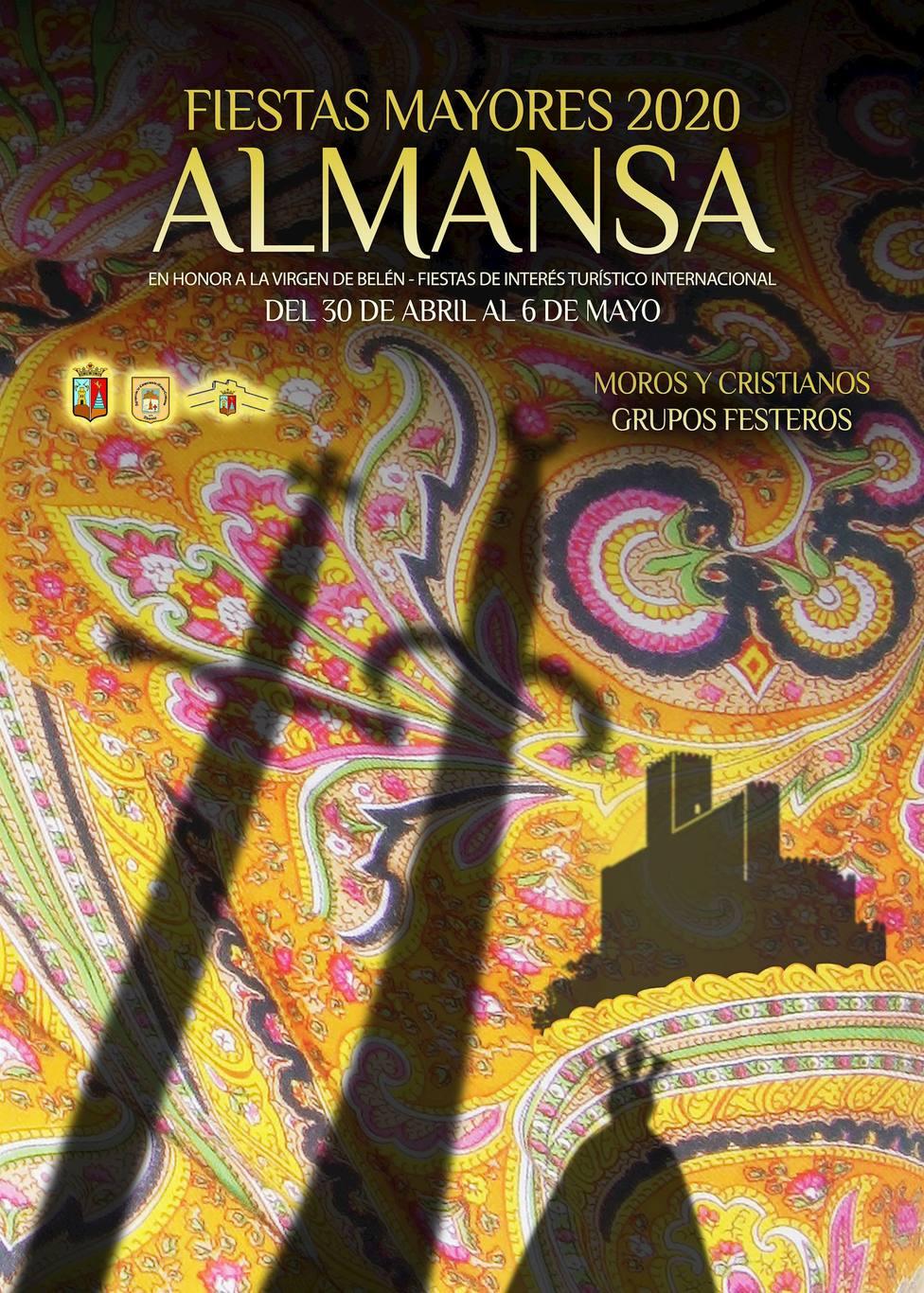 La obra Sombras de Rubén Lucas García de Torreagüera, cartel de las Fiestas Mayores de Almansa