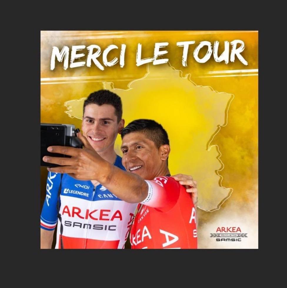 El Arkea, equipo de Nairo Quintana. invitado al Tour de Francia