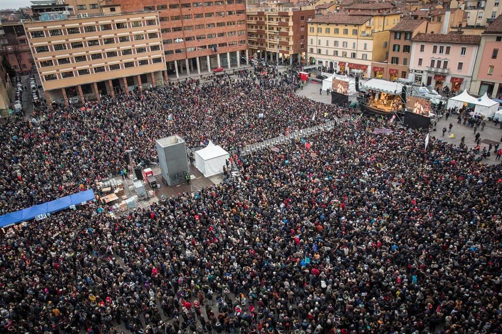 40.000 personas se echan a las calles de Bolonia (Italia) en contra de Matteo Salvini y sus políticas