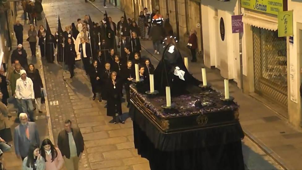 FOTO DE ARCHIVO de la procesión de la Caridad y el Silencio de la Cofradía de las Angustias