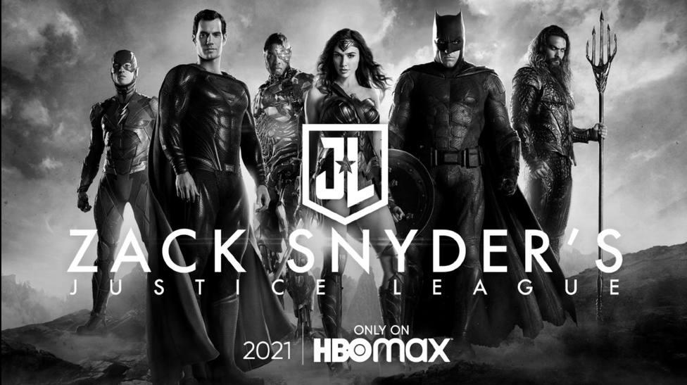 Poster oficial par el estreno de la versión de Zack Snyder de Liga de la justicia en HBO Max