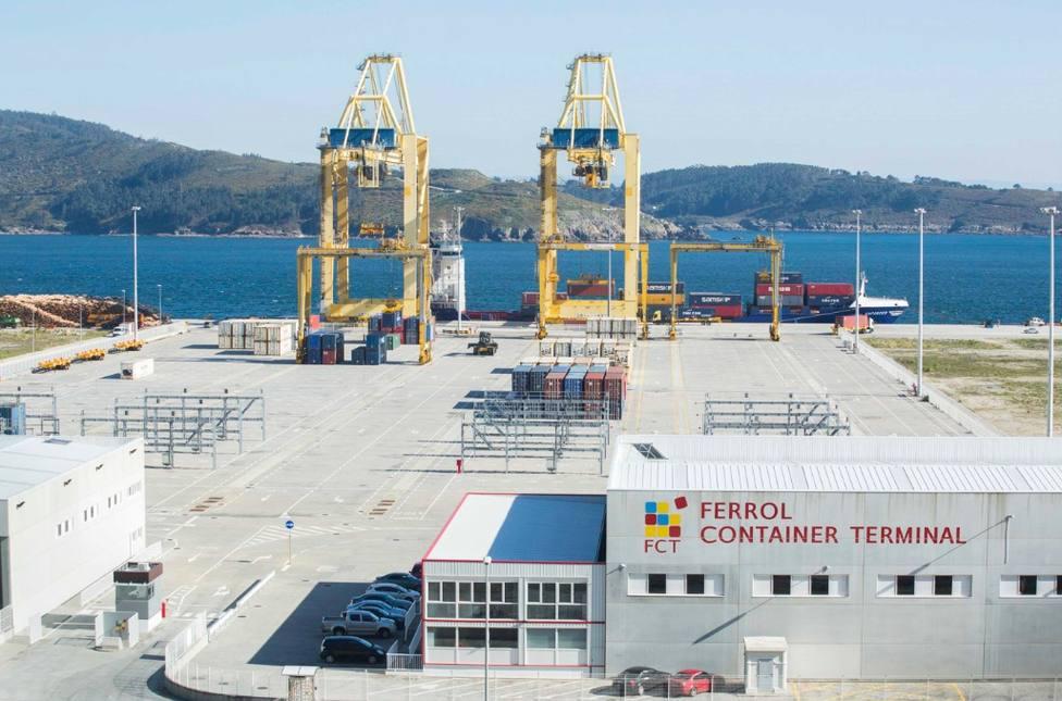 Zona del puerto exterior dedicada al tráfico de contenedores - FOTO: Autoridad Portuaria de Ferrol-San Cibrao