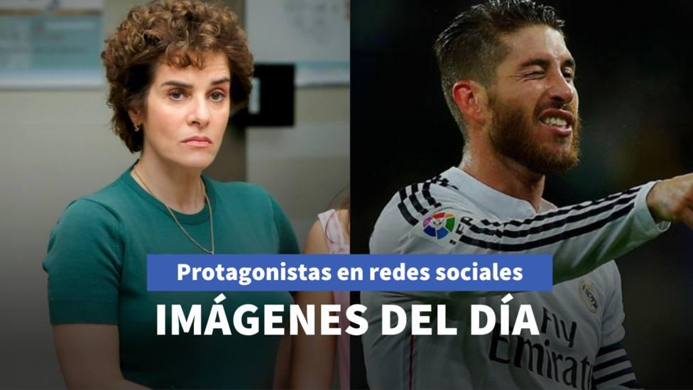 Imágenes del día: los beneficios de utilizar mascarilla según Anabel Alonso y el duro entrenamiento de Ramos