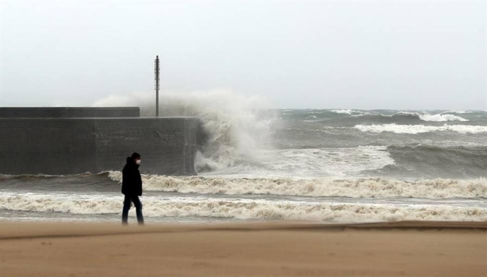 La tormenta Alex a su paso por el País Vasco