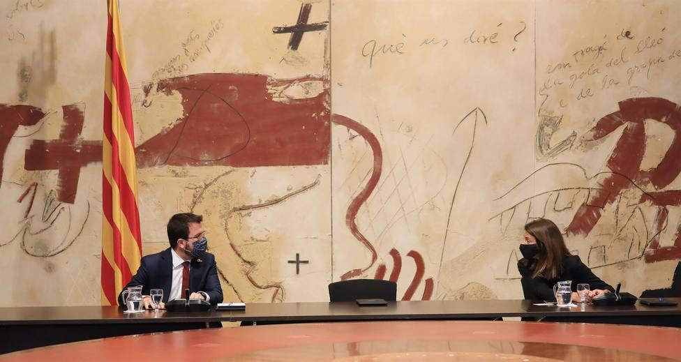 Aragonès y Budó se reúnen en el Parlament tras la crisis entre ERC y JxCat por las filtraciones
