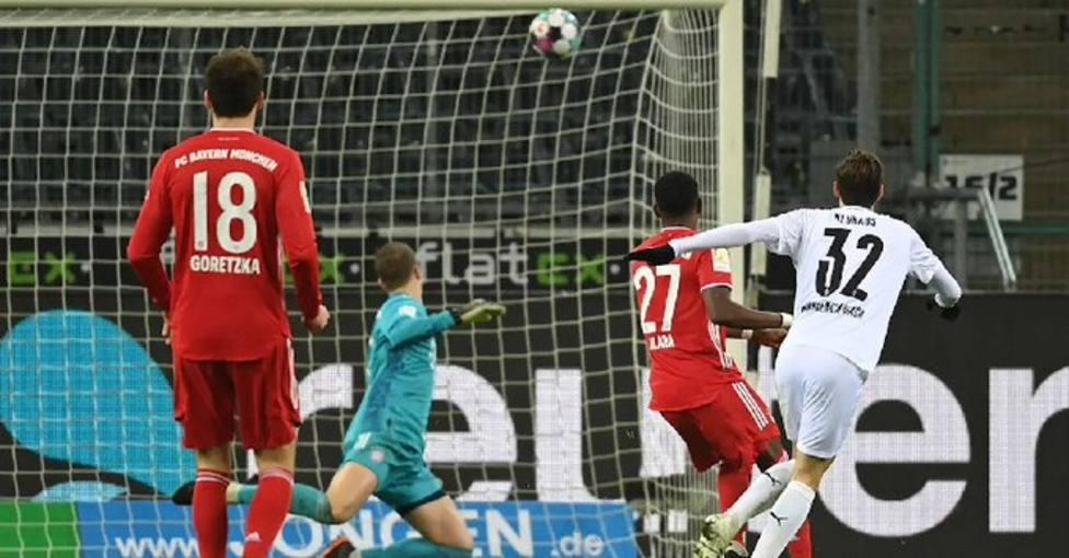 El Gladbach pone en riesgo el liderato del Bayern