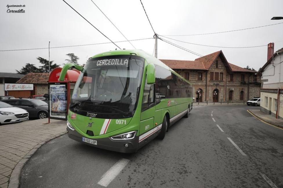 El servicio lanzadera parará en la estación de RENFE de Cercedilla
