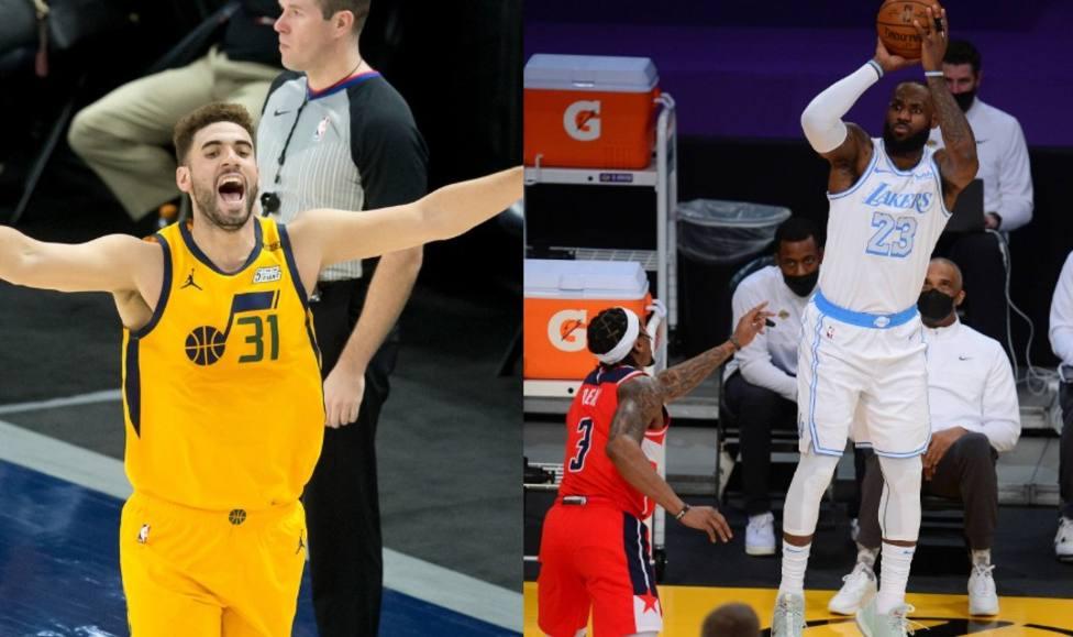 Utah Jazz y Lakers, protagonistas de la noche