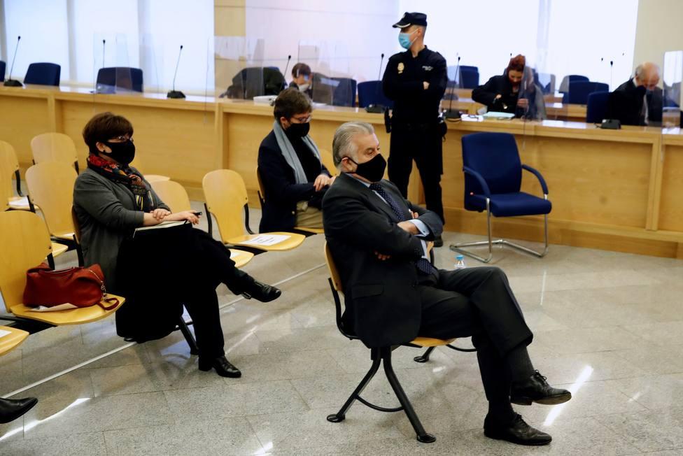 El extesorero del PP Luis Bárcenas durante el juicio por la presunta caja b del PP