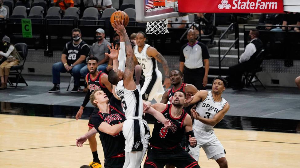 Partido entre San Antonio Spurs y Chicago Bulls. CORDONPRESS